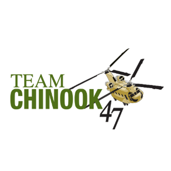 Team Chinook - Boeing 47 Helicopter Graphic